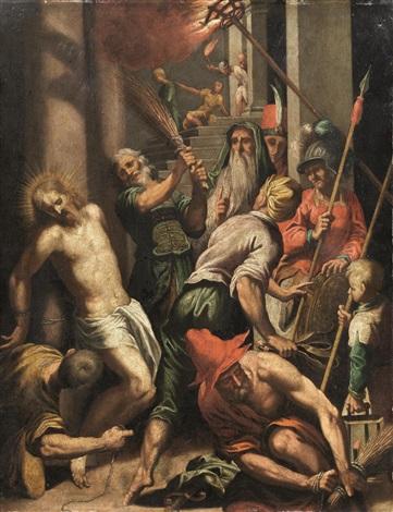 flagellazione di cristo by jacopo palma il giovane
