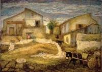 courtyard in shfeya by arieh allweil