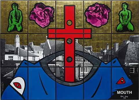 mouth in 15 parts by gilbert and george