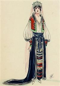 projet de costume (femme couronnée) by igor sokoloff