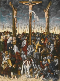 the crucifixion by lucas cranach the younger