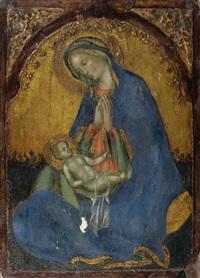 la vierge d'humilité, tableau de dévotion by francesco di gentile da fabriano