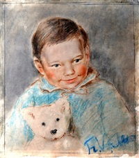 child portrait with bear by francisk varslavans