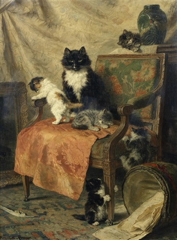 kittens at play by henriette ronner knip