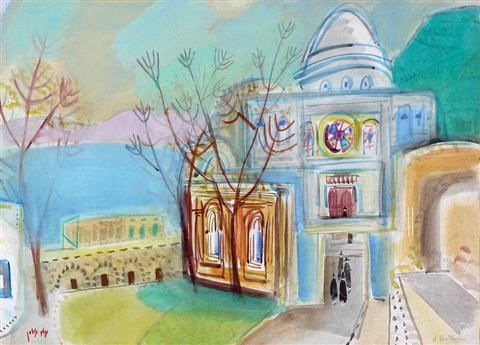 synagogue in tiberias by nachum gutman