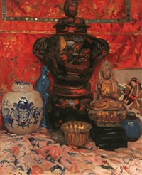 oriental still life by henri marchal