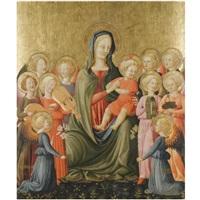 the madonna and child with music-making angels by giovanni di ser giovanni di (lo scheggia) simone