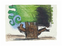 untitled (8/25/07, 8/28/07) by carroll dunham