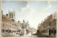 the market place, hull by thomas malton the younger