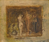 sketch for rush carving by thomas eakins