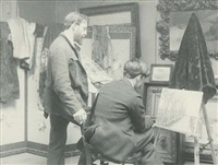 frank hermann and alfred stieglitz in hermann's studio by william b. post
