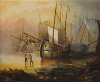 harbor scene by lionel percy smythe