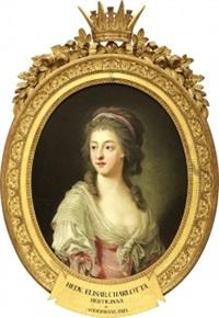 porträtt - midjebild föreställande hedvig elisabeth charlotta vid 25 års ålder, hertiginna av södermanland by carl fredrik van breda