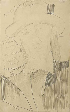portrait de blaise cendrars by amedeo modigliani