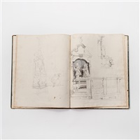 untitled (+ another; 2 sketchbooks) by johannes bosboom