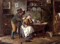 the lace maker (+ a tickle under the nose; pair) by g. dawson