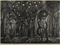 adam and eve by james lesesne wells