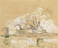 vue d'antibes by paul signac