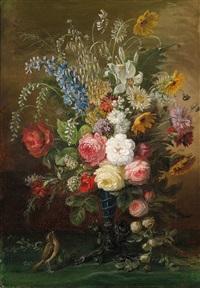 blumenstück mit rosen und wiesenblumen by austrian school (19)