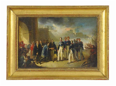 the arrival of carlo alberto amedeo di savoia king of sardinia 1831 1849 in cagliari by giovanni marghinotti
