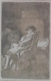 a gentleman seated by alexander runciman