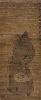 zhong kui, le dompteur de démons, dans sa tenue de dignitaire by dong gao