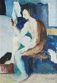 man nude - selfportrait by frantisek jiroudek