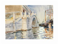 a bridge in venice by john singer sargent