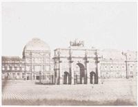 les tuileries, place du carrousel et arc de triomphe by françois auguste renard