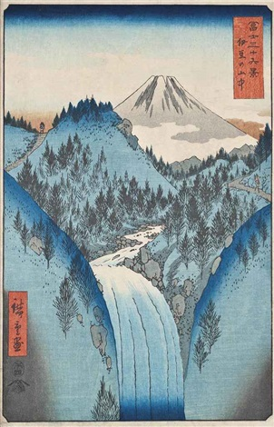 izu no sanchu the izu mountains from fuji sanjurokkei thirty six views of mount fuji oban tate e by ando hiroshige