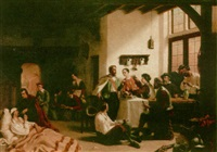 soldiers resting in an inn by lambertus lingeman