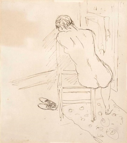 Femme Sur Une Chaise De Dos By Henri Charles Manguin