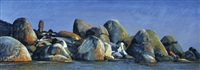 rocks and water (wilson's prom) by geoff la gerche