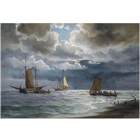 sailing along the coast, skagen by ioannis (jean h.) altamura