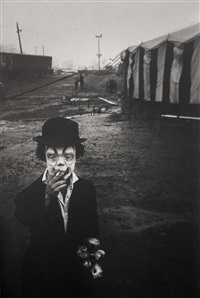 the dwarf and the clyde beatty circus (from the circus series) by bruce davidson