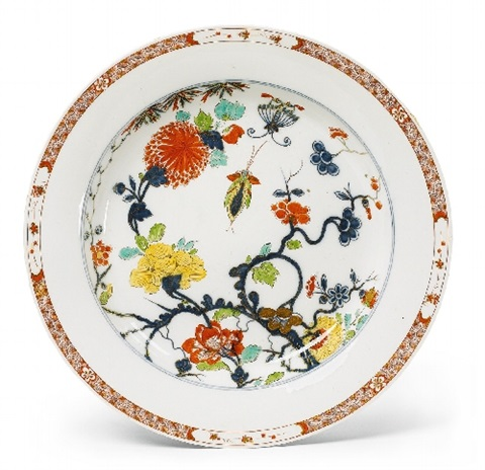a large meissen round imari style dish
