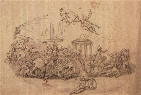 allegorical scenes 2 works by francesco allegrini