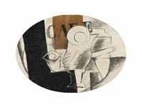 verre et pipe, café by georges braque