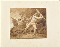 hercule terrassant l'hydre de lerne by giuseppe cammarano