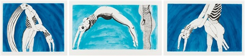 triptych for the red room set of 3 by louise bourgeois
