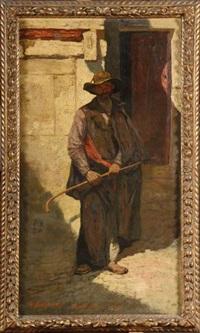 le vieux mendiant by alfred théodore joseph bastien