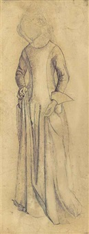 study for la belle iseult by william morris