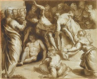 the raising of lazarus by jacopo robusti tintoretto