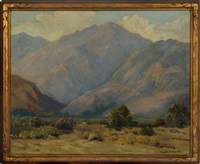 a california desert and mountain landscape by harry c. smith
