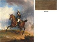 portrait of nicholas i on horseback by george dawe