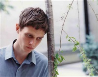 untitled (my doppelganger as ian curtis) by slater bradley