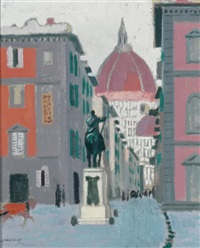 florence with a view of the duomo by maurice denis