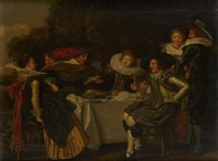 a convivial party by dirck hals