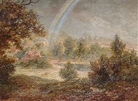a rainbow over sutton park by george hickin
