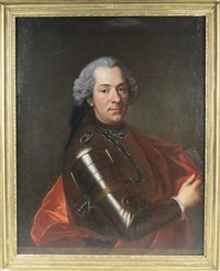 portrait de monsieur henry françois gerbold, marquis de sailly by louis de fontaine